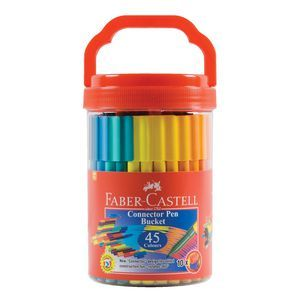 Faber-Castell Connector Pen Bucket, Pack/45