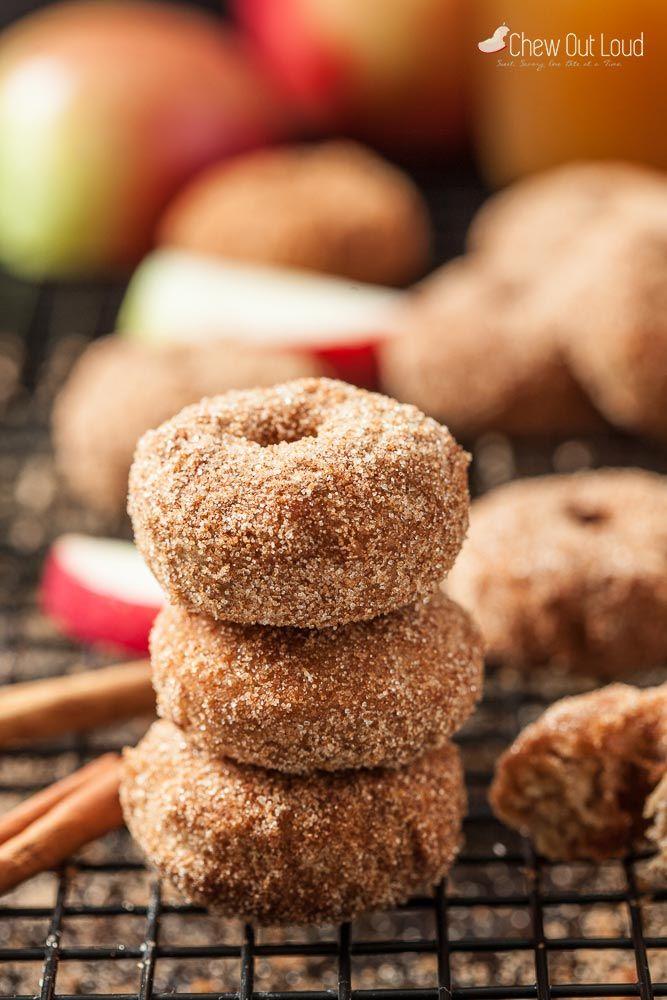 cinnamon apple baked donuts