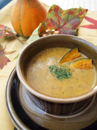 かぼちゃと舞茸のクリームスープ