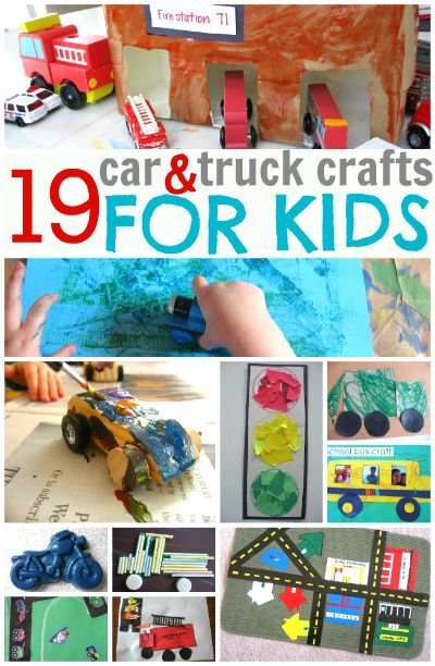 19 car truck crafts for kids