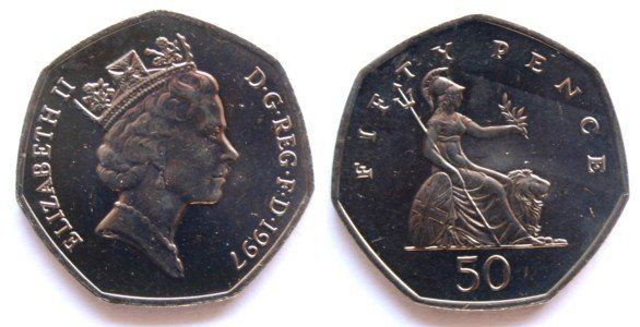 1997 fifty pence