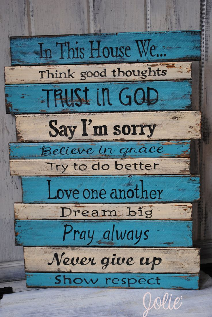 Hand Painted House Signs Wood