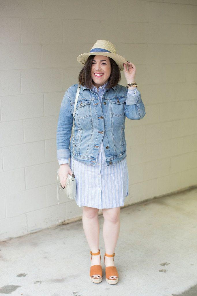 6bd9701f7a98 4 Ways to Wear a Denim Jacket | Head to Toe Chic Summer/Spring ...