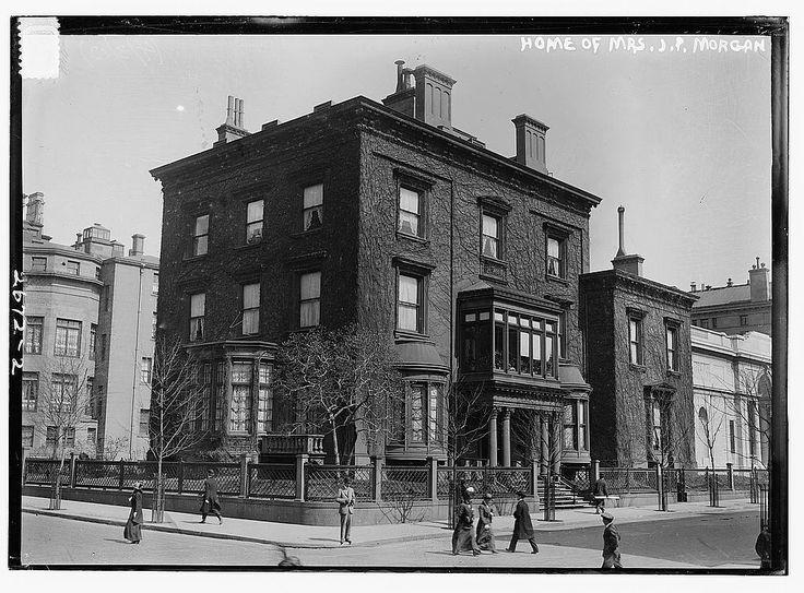 J.P. Morgan Family Brownstone Mansion at 1882, at 231 Madison Avenue, New York City
