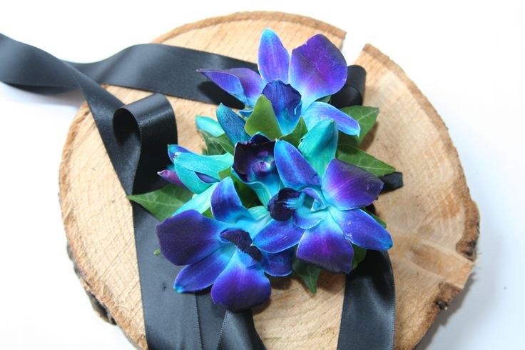 Wrist corsage with colour!
