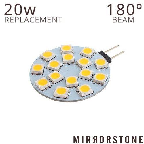 2.1W G4 LED 15 SMD Disc, 210 Lumens