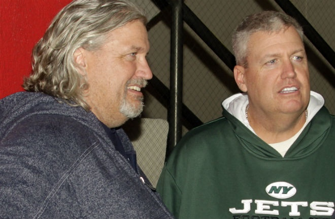The Barber brothers aren't the only twins to make their mark on football. New York Jets head coach Rex Ryan and his twin brother Rob Ryan, a defensive coordinator for the Dallas Cowboys until his contract was recently terminated, both got their start in the family business joining the defensive coaching staff of their father, Buddy Ryan, when he became head coach of the Arizona Cardinals in 1994.