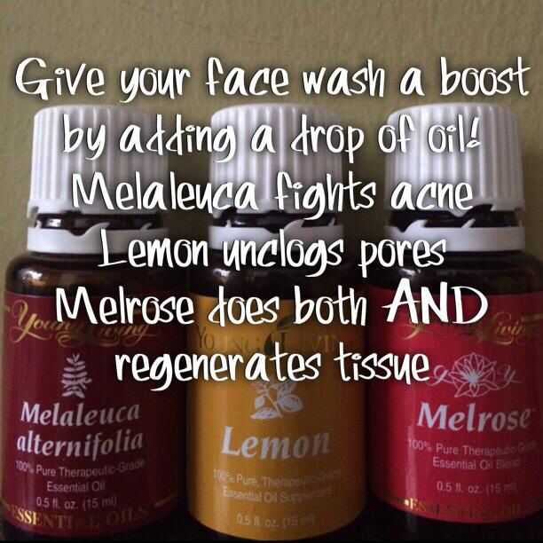 Give your face wash a boost with young living essential oils