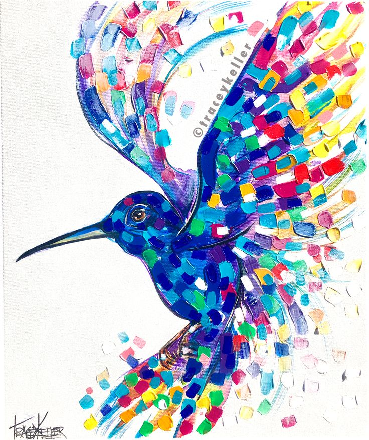 Tracey Keller Hummingbird Painting