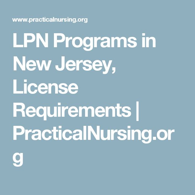 LPN Programs in New Jersey, License Requirements | PracticalNursing.org