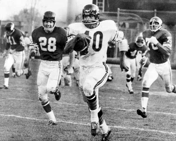 Gale Sayers (RB) Bears - First Year: 1965 - Career: 5 seasons - Drafted: Round 1, Pick 4