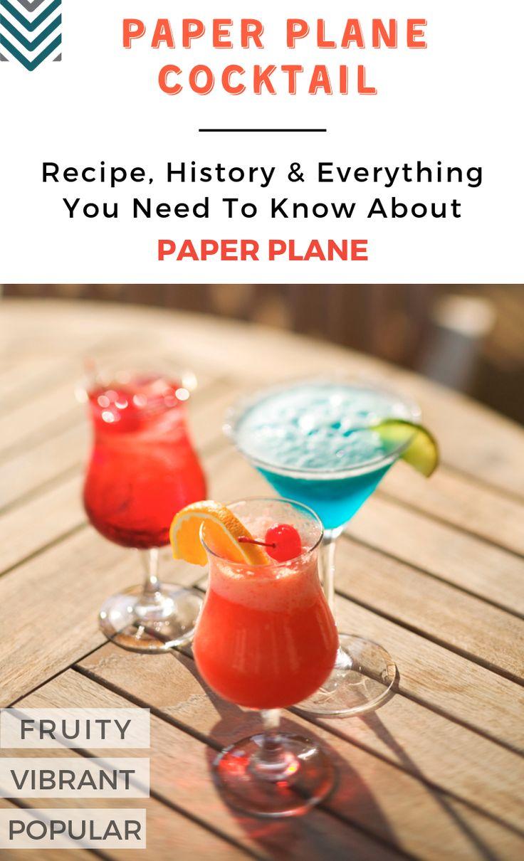 Schon mal was von dem Paper Plane #Cocktail gehört? Es ist der neue Cocktail, der in Toro berühmt ist …   – Fruity Cocktail Recipes