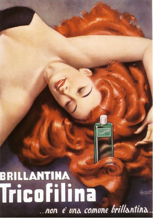 Vintage Italian Posters ~ #illustrator #Italian #posters ~ By Gino Boccasile (1901-1952), Tricofilina. (I)