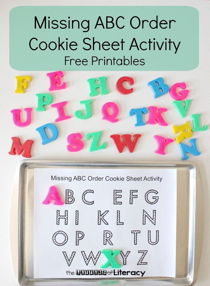 Teaching alphabetical order and letter identification is even more fun with this free missing letters cookie sheet activity!