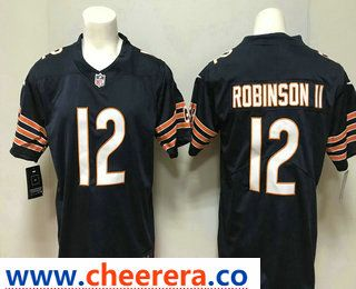 Men s Chicago Bears  12 Allen Robinson II Navy Blue Team Color 2018 Vapor  Untouchable Stitched NFL Nike Limited Jersey 2308afcac