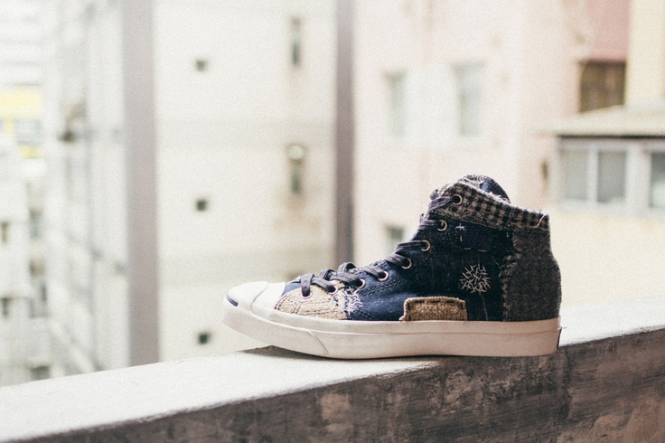 "Converse First String 2013 Fall - the Boro collection utilizing a Japanese ""rag"" technique which creates a unique patchwork execution which yields no identical shoes."