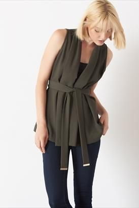 Work wear just got a modern update, the sleeveless blazer