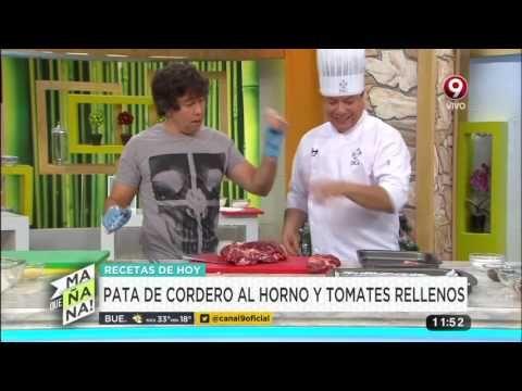 Receta de hoy: pata de cordero al horno y tomates rellenos - YouTube