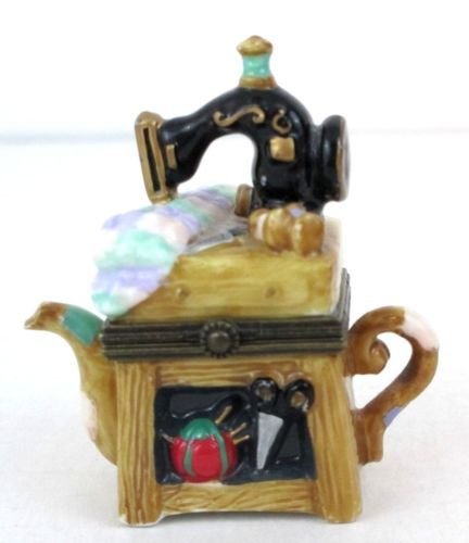Midwest Of Canon Falls Hinged Trinket Box Sewing Machine
