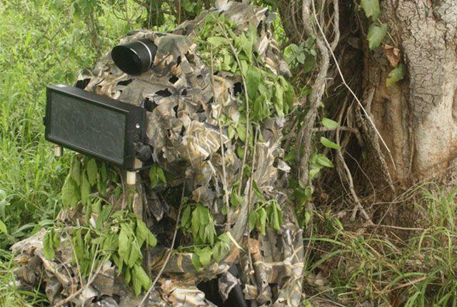 Hidden speed camera header