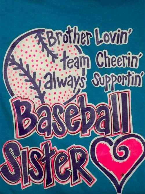 @CarlaDicks this is a cute shirt! brothers+and+sister+baseball+picture | Found on southernchicsonline.com