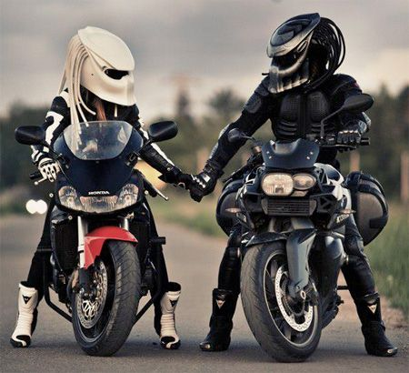 Predator Motorcycle Helmet! His and hers!