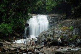 The vibrant waterfalls of Munnar, Kerala