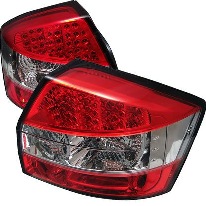 2002-2005 Audi A4 LED Tail Lights - Red Clear