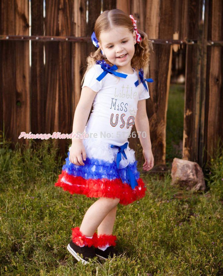 Кубок мира июля горный хрусталь маленькая мисс сша девушка топ рбг с оборками юбка NB-8Year MAPSA0595