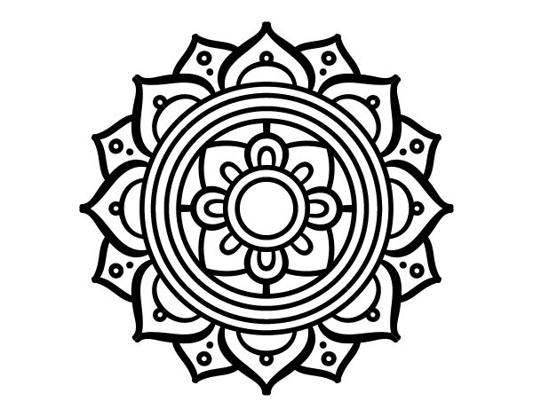 Dibujo de un Mandala mosaico griego para pintar, colorear o imprimir. Colorea online con dibujos.net y podrás compartir y crear tu propia galería de dibujos pintados de Mandalas.