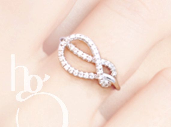 Infinity Ring - Diamonds and 14k Gold - any color/size - Stackable, Anniversary, Engagement, Special Occasion, Custom, Hand-Made to Order