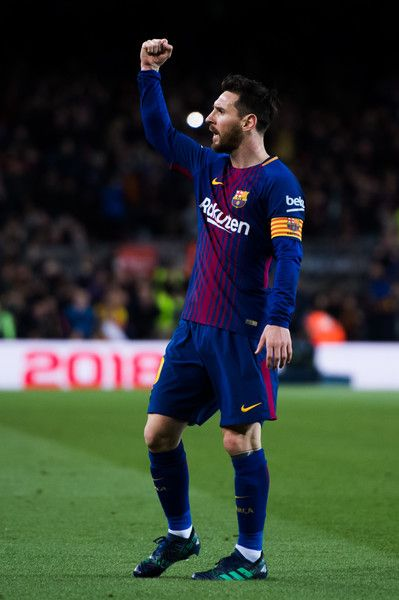 Lionel Messi of FC Barcelona celebrates after scoring the opening goal  during the La Liga match between Barcelona and Leganes at Camp Nou on April  7 dc1d547a67521