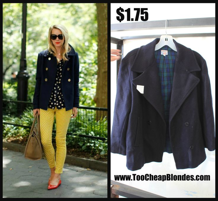 Navy Peacoat found @ Thrift Outlet for $1.75