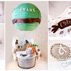 Regalo Baby Shower: cesta globo