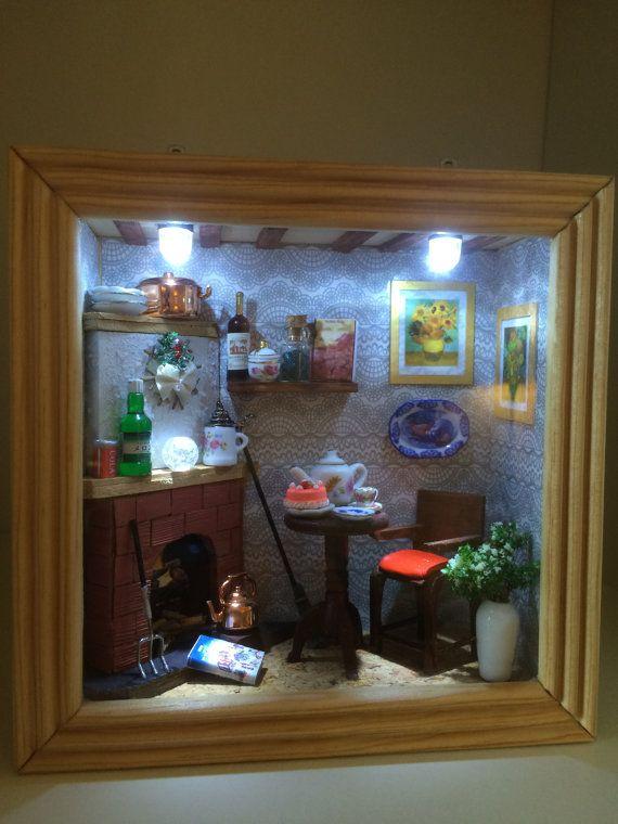 best 25 miniature rooms ideas on pinterest miniature. Black Bedroom Furniture Sets. Home Design Ideas