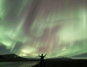 Aurora Boreal na Islândia