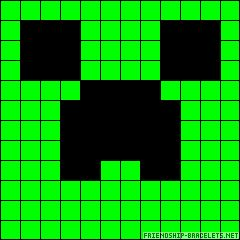 Minecraft Creeper perler bead pattern