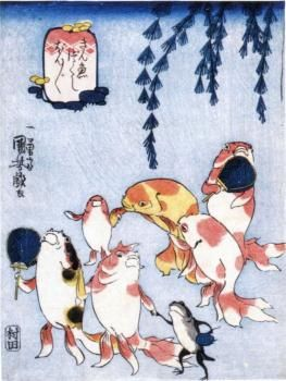 A day in summer by Kuniyoshi Utagawa@歌川国芳