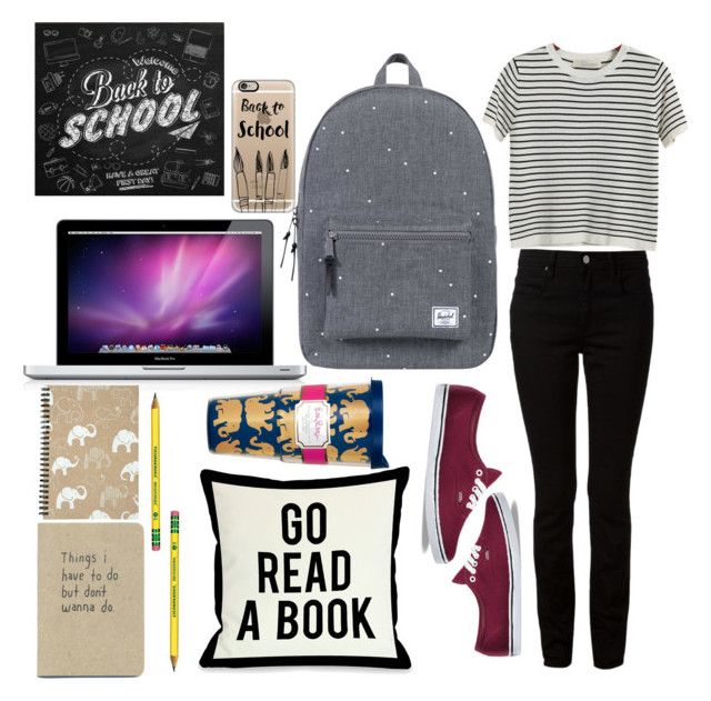 Back 2 Skool by lauralionels on Polyvore featuring polyvore fashion style Chicnova Fashion Alexander Wang Vans Herschel Supply Co. Casetify One Bella Casa Lilly Pulitzer clothing