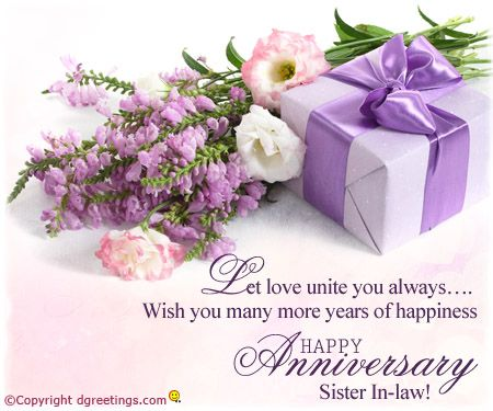 Wedding Anniversary Gifts For Brother And Sister In Law Online : Dgreetings..... Happy Anniversary Sister-in-law Anniversary Cards ...