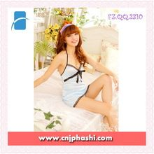 2014 Ladies Hot Sexy Satin Japanese Blue with lace Sleeping Wear Lingeries and panty set Sexy Fancy Night Gown  Best seller follow this link http://shopingayo.space