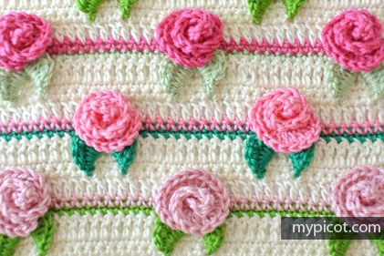 Crochet Rosebud Stitch Tutorial - (mypicot)