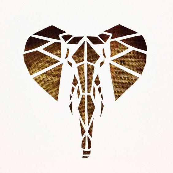 Canvas cutout #cutouts #elephant #madrecreative