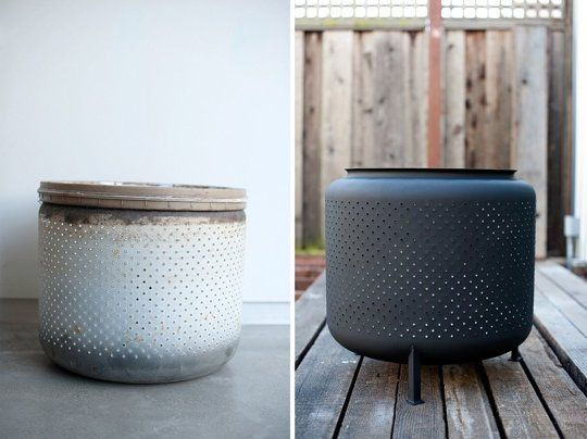 Turn a Washing Machine Drum Into a Backyard Fire Pit in Just 1 Hour for $10 House & Fig   Apartment Therapy