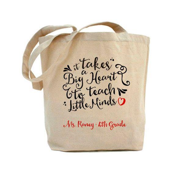Teacher Tote Bag - Teacher Book Bag - Personalized - Teacher Gift by swankypress on Etsy