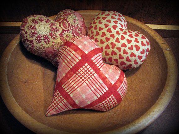 Primitive Heart Bowl Filler Valentines Decoration   Plush ...