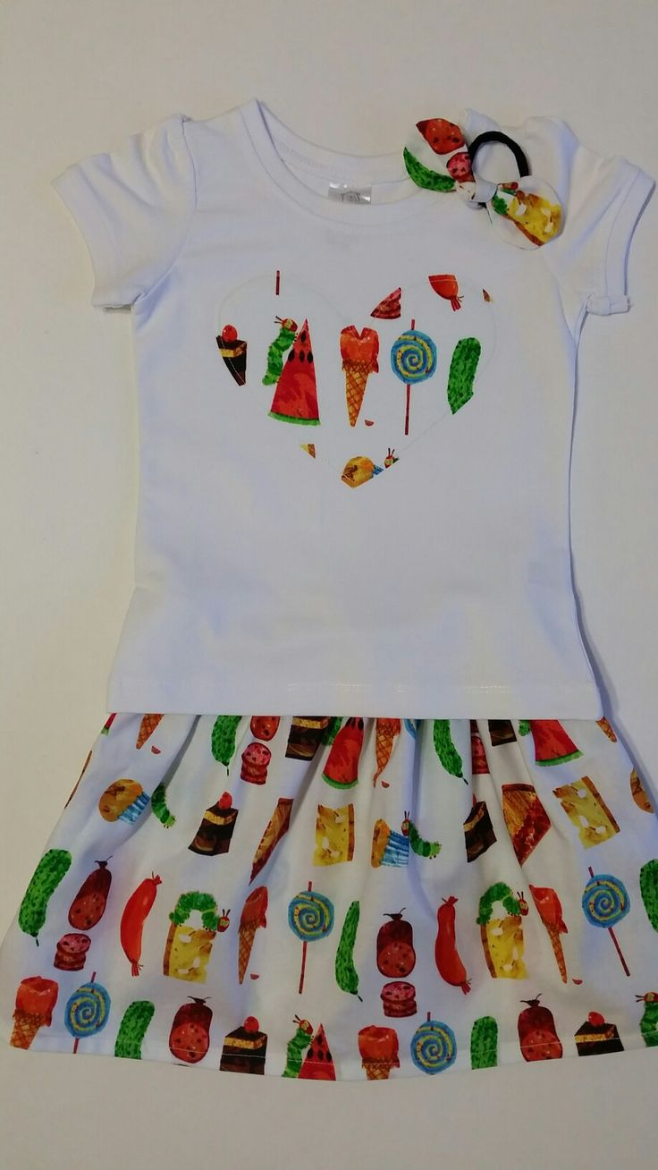 "Girl Skirt Set ""The Hungry Caterpillar"" by Sew Mama http://sewmama.felt.co.nz/"