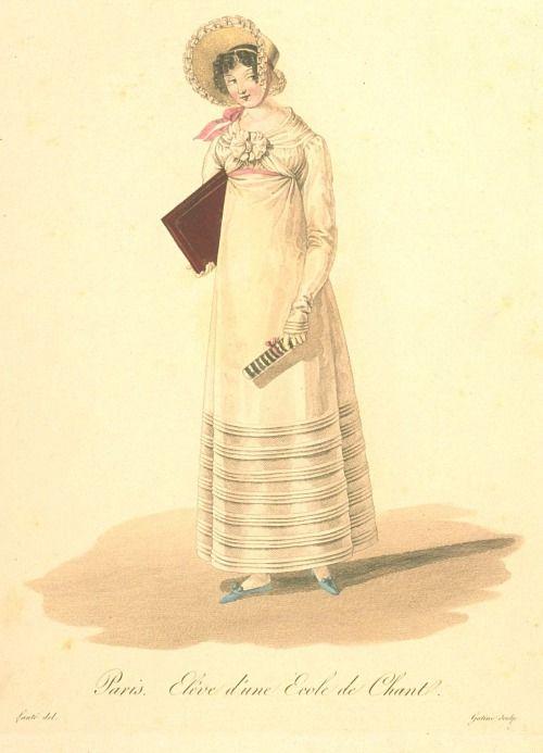 """""""Paris. Student of a Singing School.""""Les Ouvrieres de Paris, 1816-1818"""