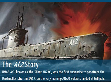 Celebrating the 'Silent Anzac', is a detailed educational resource providing in-depth information about AE2, its commanding officer and crew, its discovery in 2007 and recent efforts to preserve the submarine. The site also includes free ATOM study guides for primary and secondary teachers and students, as well as links to other useful Anzac resources.