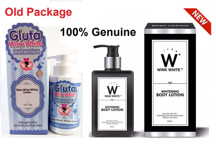 Gluta Wink White Lotion Glutathione Collagen Sunscreen AHA Mix Fruits SPF60+ #WinkWhite